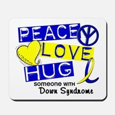 DS Peace Love Hug 1 Mousepad