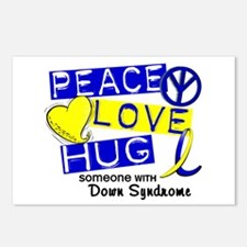 DS Peace Love Hug 1 Postcards (Package of 8)