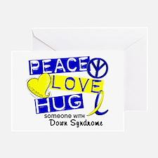DS Peace Love Hug 1 Greeting Card