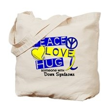DS Peace Love Hug 1 Tote Bag