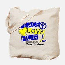 DS Peace Love Hug 1 Tote Bag