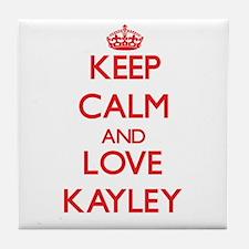 Keep Calm and Love Kayley Tile Coaster