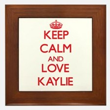 Keep Calm and Love Kaylie Framed Tile