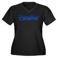 Catherine Women's Plus Size V-Neck Dark T-Shirt