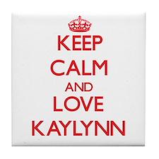 Keep Calm and Love Kaylynn Tile Coaster