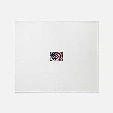 Swirling Flag Throw Blanket