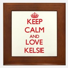 Keep Calm and Love Kelsie Framed Tile