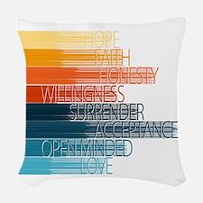 Spiritual Principles Woven Throw Pillow