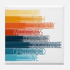 Spiritual Principles Tile Coaster