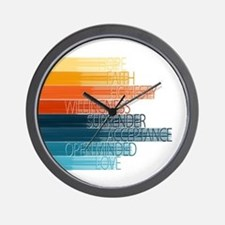 Spiritual Principles Wall Clock