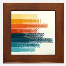 Spiritual Principles Framed Tile
