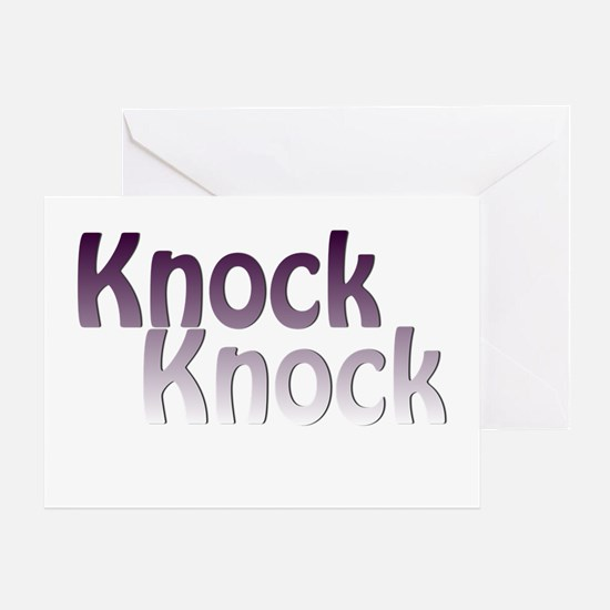 knock knock Greeting Cards