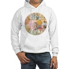 Vintage Florida Travel Beach Shells Collage Hoodie