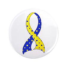 """DS Polka Dot Ribbon 3.5"""" Button"""