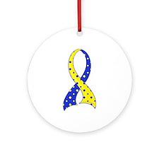 DS Polka Dot Ribbon Ornament (Round)