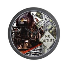 SQU Train Collage Wall Clock