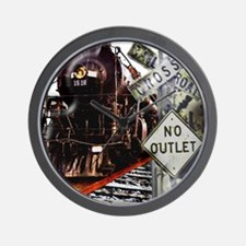 SQU Train Collage Wall Clock