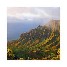 Kalalau Valley Sunset Hawaii Tropical Queen Duvet