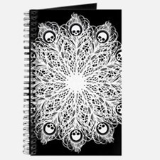 Skull Gothic Peacock Feather Journal