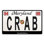 Maryland License Plate Sticker - CRAB