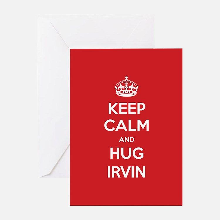 Hug Irvin Greeting Cards