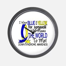 DS Means World To Me 1 Wall Clock