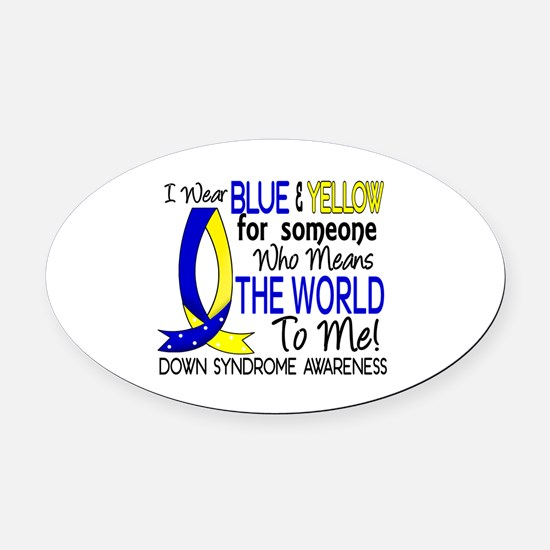 DS Means World To Me 1 Oval Car Magnet
