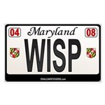 Maryland License Plate Sticker - WISP