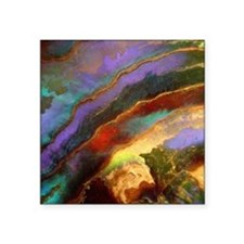 "Abalone Sunset Square Sticker 3"" x 3"""
