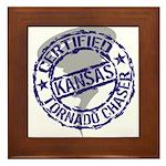 Kansas Tornado Chaser Framed Tile