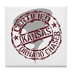 Kansas Tornado Chaser Tile Coaster