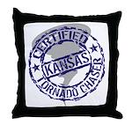 Kansas Tornado Chaser Throw Pillow