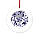 Kansas Tornado Chaser Ornament (Round)