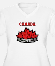 Canadian Pride STRONG & FREE Plus Size T-Shirt