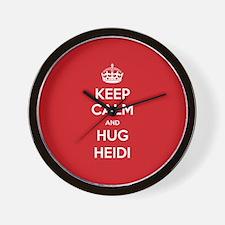 Hug Heidi Wall Clock