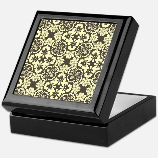 Vintage Floral Pattern Keepsake Box