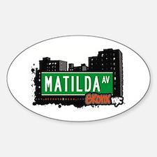 Matilda Av Oval Decal