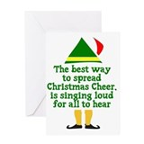 Buddy the elf Greeting Cards