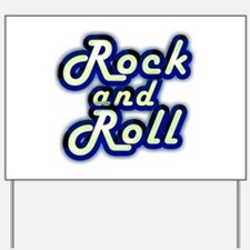 Neon Rock and Roll Yard Sign