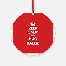 Hug Hallie Ornament (Round)
