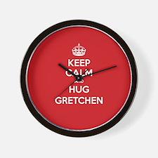 Hug Gretchen Wall Clock