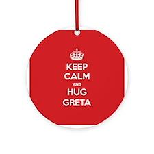 Hug Greta Ornament (Round)
