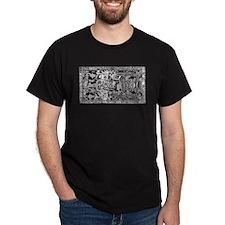 Palenque Ancient Astronaut Ufo White T-Shirt