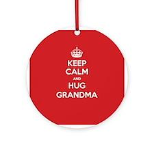 Hug Grandma Ornament (Round)