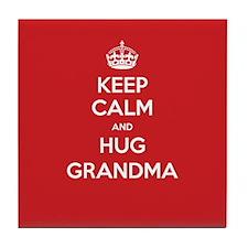 Hug Grandma Tile Coaster