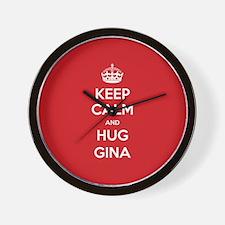 Hug Gina Wall Clock