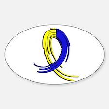 DS Graffiti Ribbon 2 Sticker (Oval)