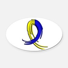DS Graffiti Ribbon 2 Oval Car Magnet
