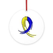 DS Graffiti Ribbon 2 Ornament (Round)