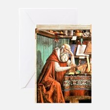 Saint Jerome in his Study Greeting Card